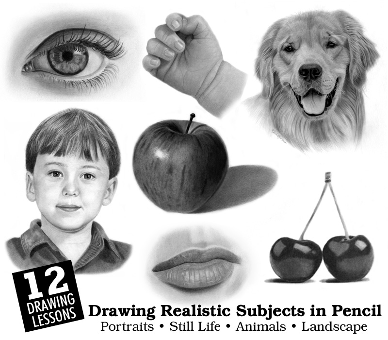 Realistic pencil drawing by artist melissa schatzmann for Draw online